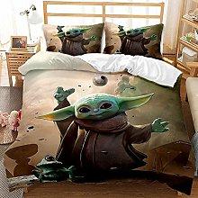 ZWPY 3D Bedding Set - Baby Yoda Printed Quilt