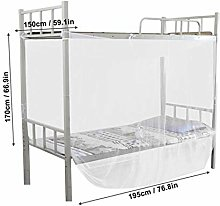 ZWQ Bed Canopy Mosquito Net Twin Bunk Beds