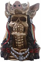 ZWRY Statues Resin Hunters Skull Head Horror Party