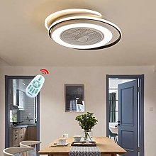 ZWSHOP Silent Invisible Fan Light, 55W, Modern and