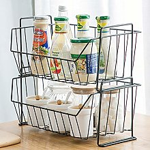 ZWW Wire Storage Basket, 2-Tier Household