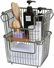 ZWW Wire Storage Basket, All-Purpose Stackable