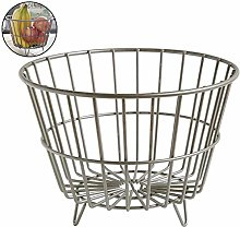 ZWW Wire Storage Basket, Rustic Style Fruit Mesh