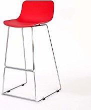ZWWZ Bar Chair Bar Stools Iron Front Desk Bar High