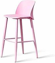 ZWWZ Bar Chair Stools,Nordic Front Desk Chair Bar