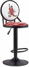 ZWWZ Bar Stools European Retro Front Desk Chair