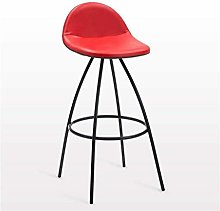 ZWWZ Bar Stools, Nordic Wrought Iron Bar Chair