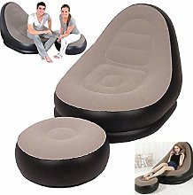 ZWWZ Dining Chair lazy inflatable sun sofa camping