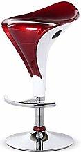 ZWWZ Nordic Bar High Stool Chair Lift Leisure Back