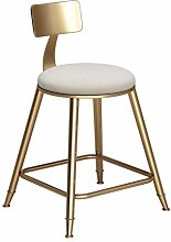 ZWWZ Nordic Wrought Iron Bar Stools Bar Chair