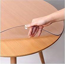 ZWYSL Transparent Tablecloth Waterproof Scratch
