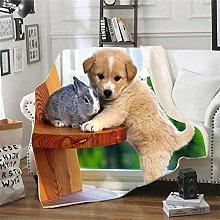 Zwyzspd Blankets Cute Dog Blanket Adults Children