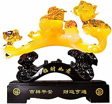 zxb-shop Statue Sculpture Feng Shui Yellow Color