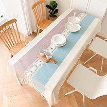 ZXCN Luxury Modern Wipe Clean Tablecloths Simple