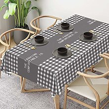 ZXCN Rectangle Stain Resistant Table Cloth Pvc