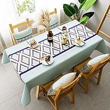 ZXCN Rectangle Tablecloth Table Covers Cotton