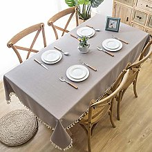 ZXCN Rectangular Tablecloth Stain Proof Household