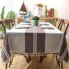 ZXCN Stain Dust Proof Decorative Table Cloths Anti