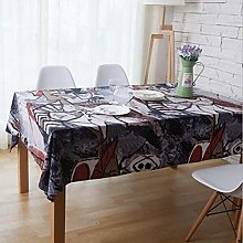 ZXCN Table Cloths Party Protector Covers Cotton
