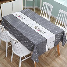 ZXCN Table Cover Cloth Tablecloth Square Shape