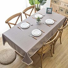 ZXCN Water Resistant Tablecloth Household Cotton