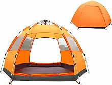 ZXCVBNM Hexagonal Tent Outdoor Automatic Hydraulic