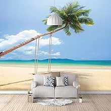 ZXDHNS Photo Wallpaper Wall Mural - Beach With