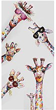 zxianc Canvas Painting Print Happy Family of Cute