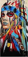 zxianc Canvas Poster Abstract Feather Colorful
