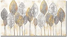 zxianc Gold Leaf Picture Modern Flowers Poster