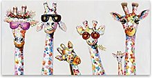 zxianc Painting Printed Modern Abstract Happy