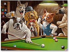 zxianc Posters On Canvas Dogs Playing Pool