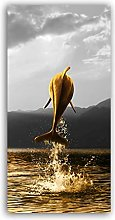 zxianc Posters On Canvas Golden Dolphin Animal
