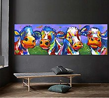 zxianc Print On Canvas Poster Cute Cow Wall Art