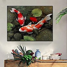zxianc Wall Paintings Red Fish In The Water Oil