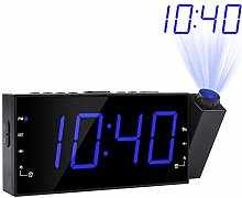 ZXL 7 inch Projection Alarm Clock AM FM Radio, 3