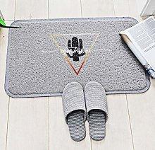 ZXL Bathroom Accessories Black Gold Wire Mat Floor