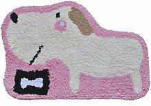 ZXL Bathroom Accessories Puppy Cartoon Mat Cotton