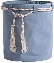 ZXL@ED Suede Storage Basket Toy Snack Basket