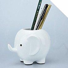 ZXL Pen holder Holder Desk Storage Resin Elephant