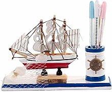 ZXL Pen holder Holder Desk Storage Sailing Model