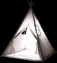 ZXL White Kids Teepee Tent with Floor Mat