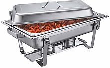 ZXLYA 9L Stainless Steel Chafing Dish, Rectangle