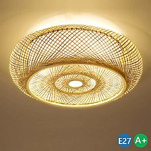 ZXM Bamboo ceiling lamp vintage rustic style