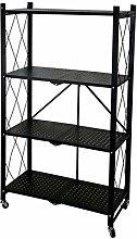ZXM Folding Shelf Multilayer Cart Storage Rack