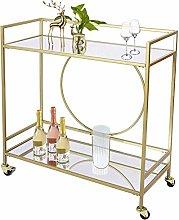 ZXM Gold Drinks Kitchen Trolley Serving Bar Cart