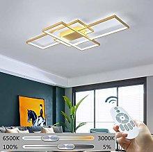 ZXM LED Golden Rectangle Ceiling Lamp Modern