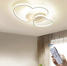 ZXM LED Heart-Shaped Ceiling Light Dimmable Living