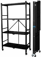 ZXM Mobile Storage Shelf with Wheels - Metal Shelf