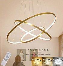 ZXM Modern LED Chandelier Dining Table LED 3-Ring